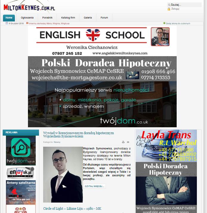 polskie strony internetowe uk
